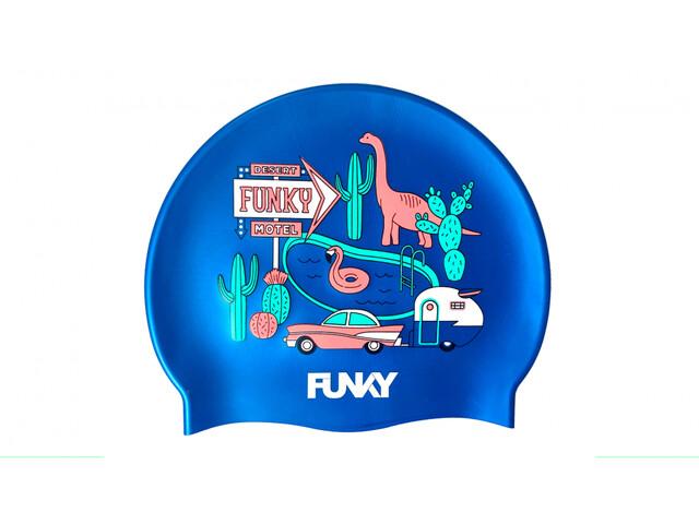 Funky Trunks Silicone Swimming Cap Men, blu/colorato